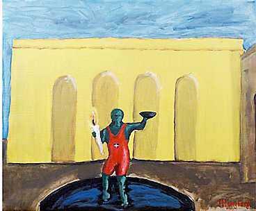 Tavlan som Mikael Ljungberg målade.