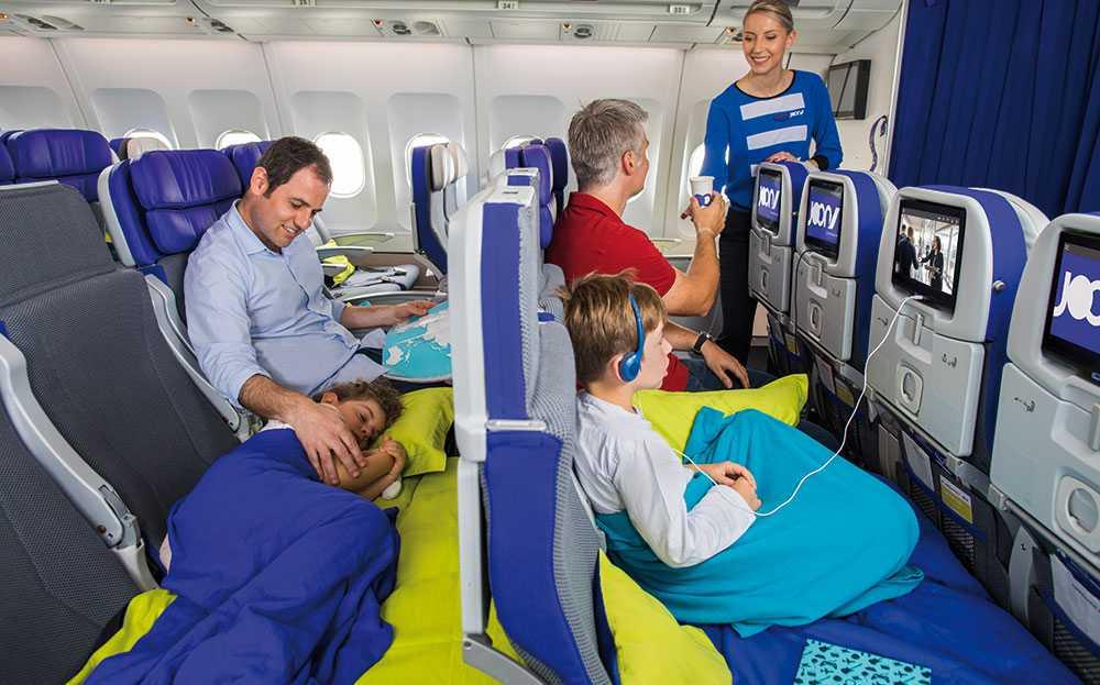 Både barn och föräldrar får en bekvämare resa med flygsängen.