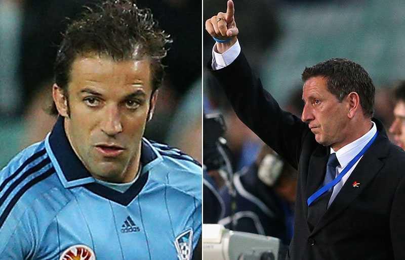 Del Piero och Ian Crook.
