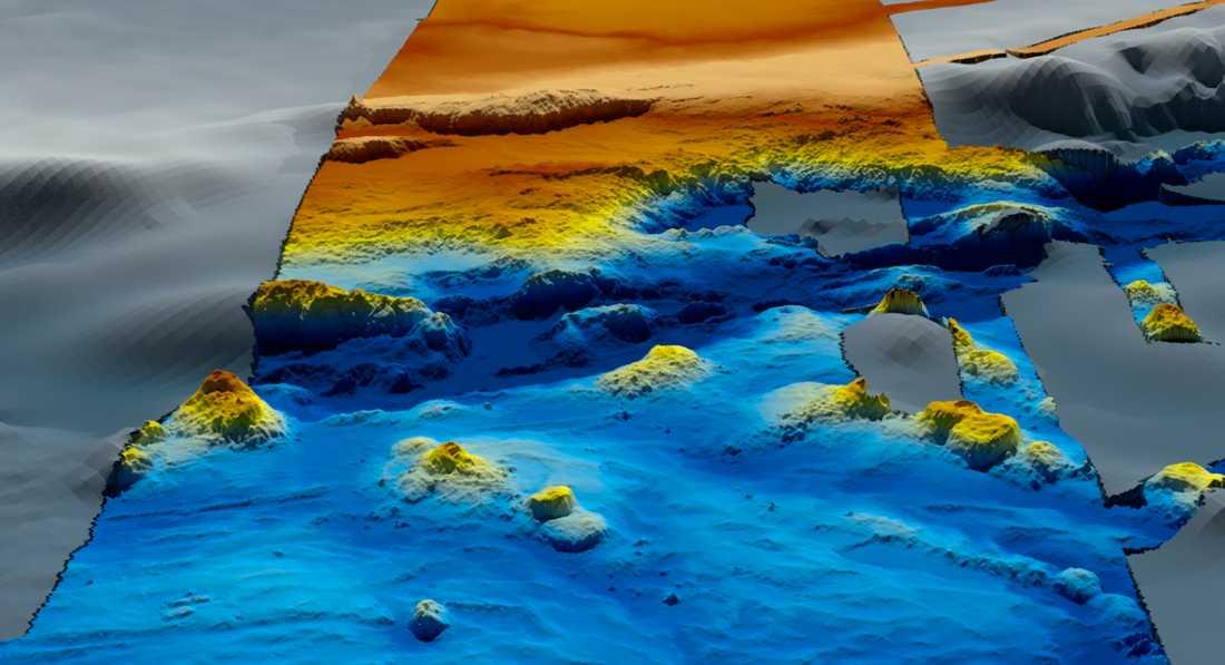 Detaljerade topografiska kartor över havsbotten har kunnat göras efter det tidigare sökarbetet