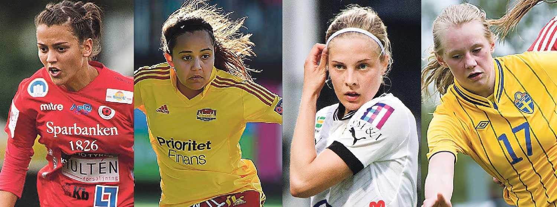 Marija Banusic, Malin Diaz, Lina Hurtig och Stina Blackstenius är några av talangerna som Sportbladets Petra Thorén hoppas ska ta för sig i år.