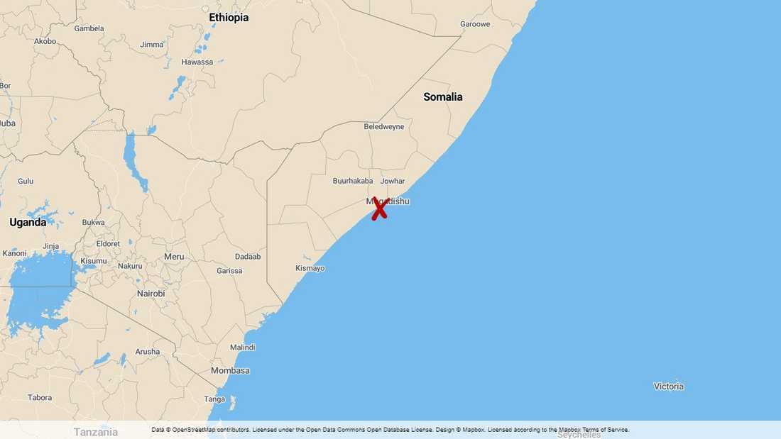 Somalias huvudstad Mogadishu.