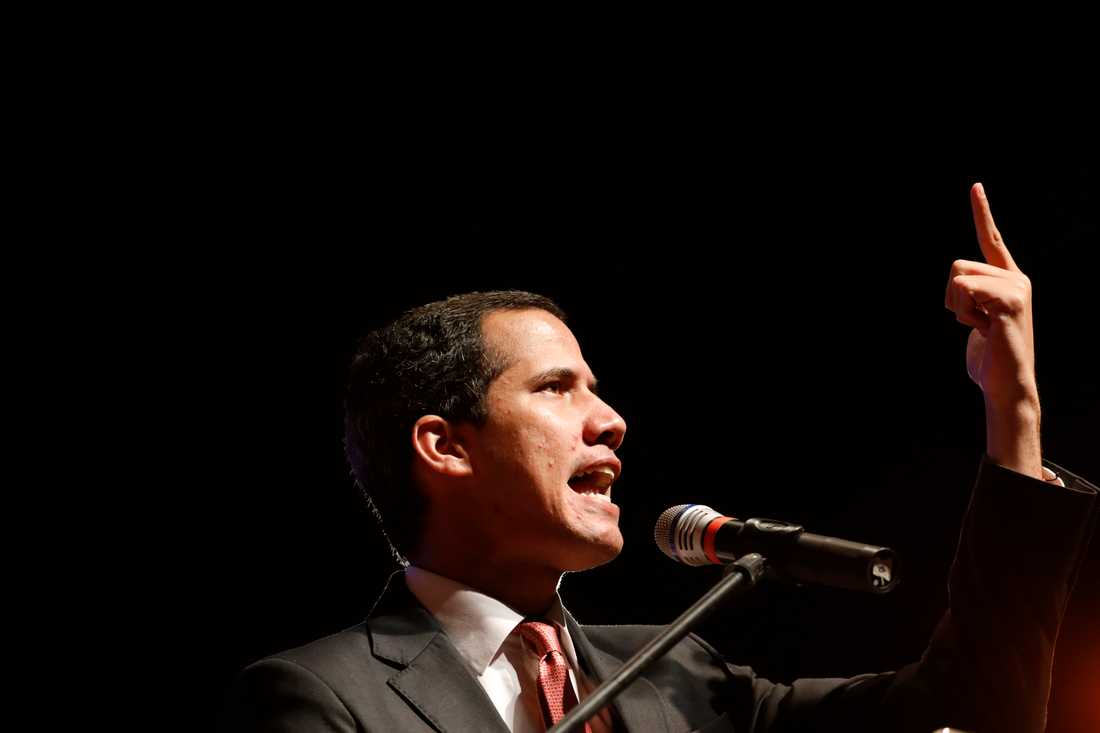 Venezuelas oppositionsledare Juan Guaidó. Arkivbild.