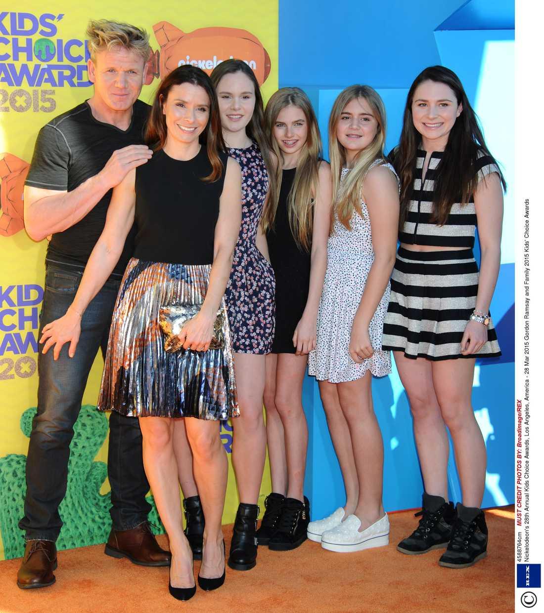 Gordon Ramsay på Nickelodeon-gala i helgen.