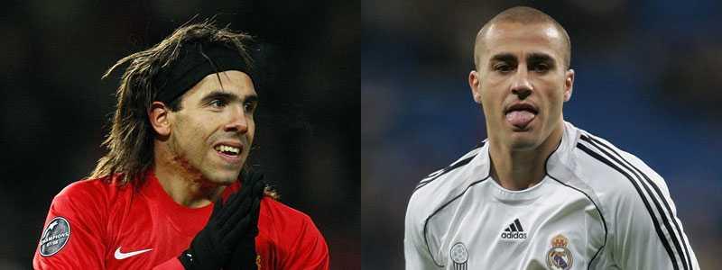 Jagade Om Man Uniteds Carlos Tevez och Real Madrids Fabio Cannavaro inte skriver på nya kontrakt med sina klubbar, kan de gå som Bosman i sommar.