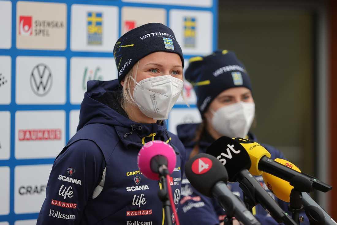 Frida Karlsson kör sistasträckan för Sverige i torsdagens VM-stafett.