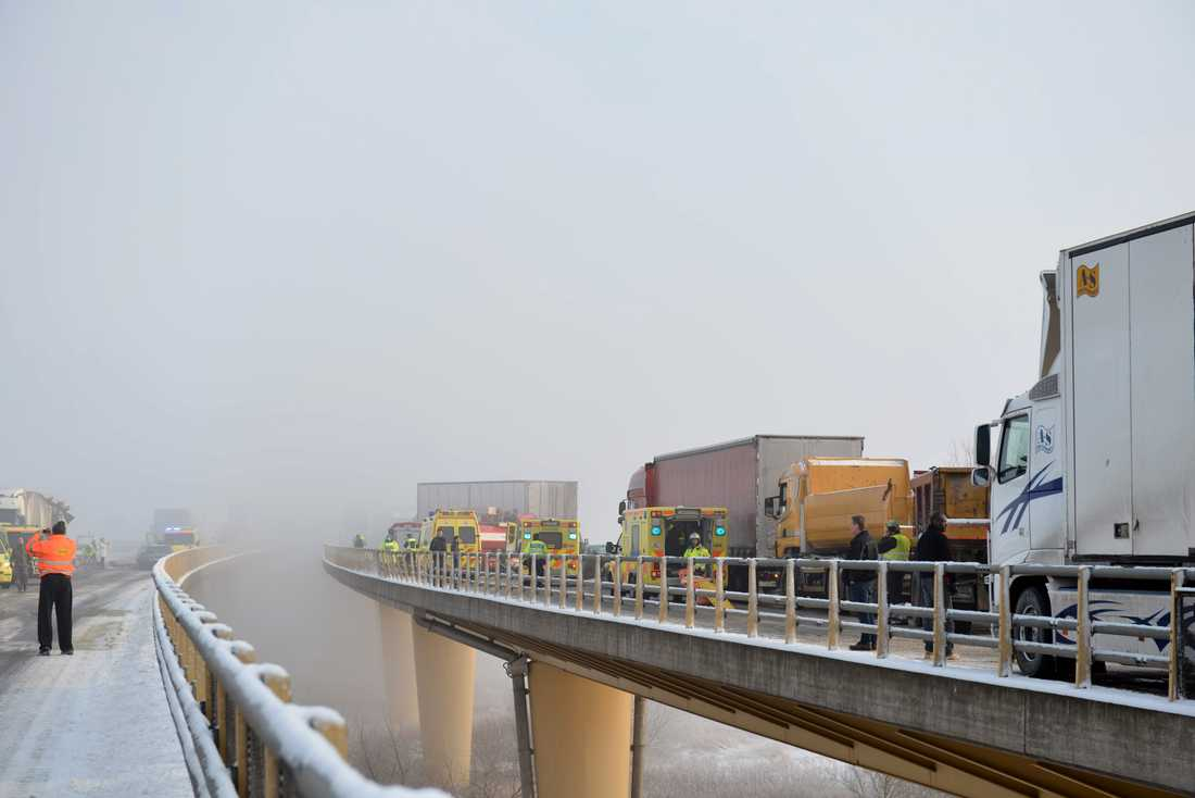 Masskrocken på Tranarpsbron, Åstorp.