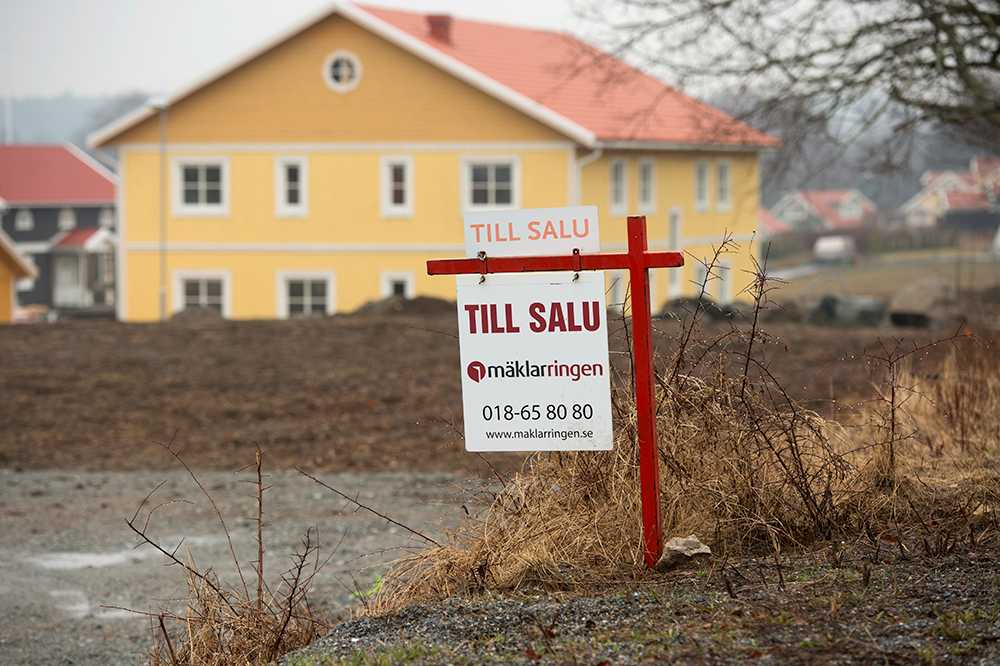 Villapriserna sjönk med en procent i september.