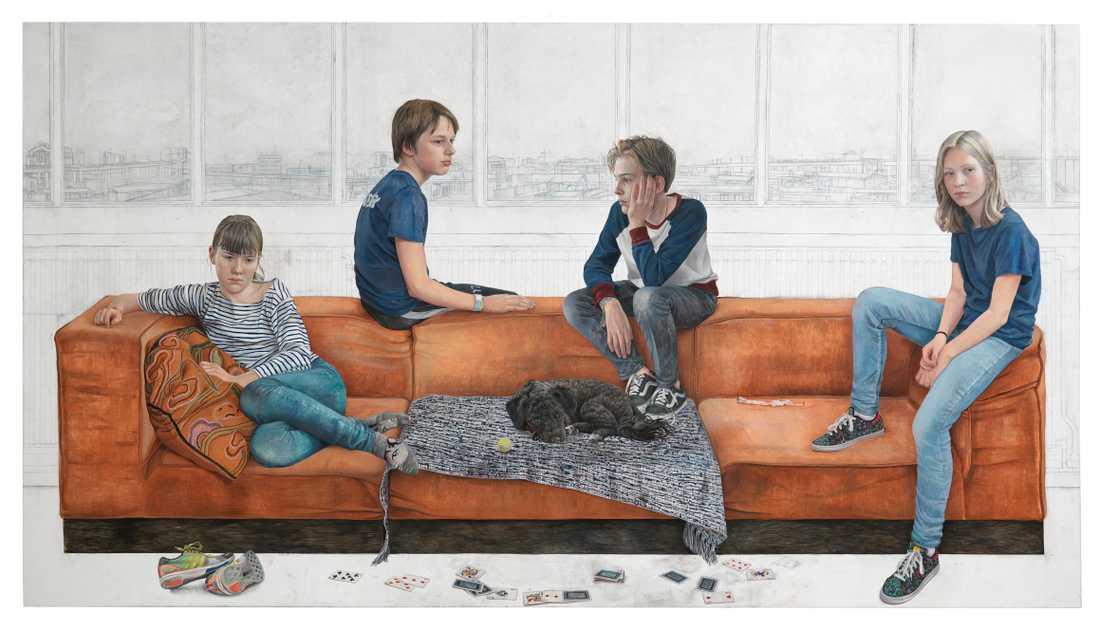 """""""Jag tänker på att de inte har någon elektronik, inga telefoner, ingenting"""", skriver tolvåriga Lin Hedelin om Martina Müntzings verk """"I morgon är en annan dag""""."""