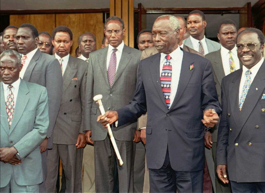 Daniel arap Moi i samband med ett kyrkobesök i Nairobi 1998.