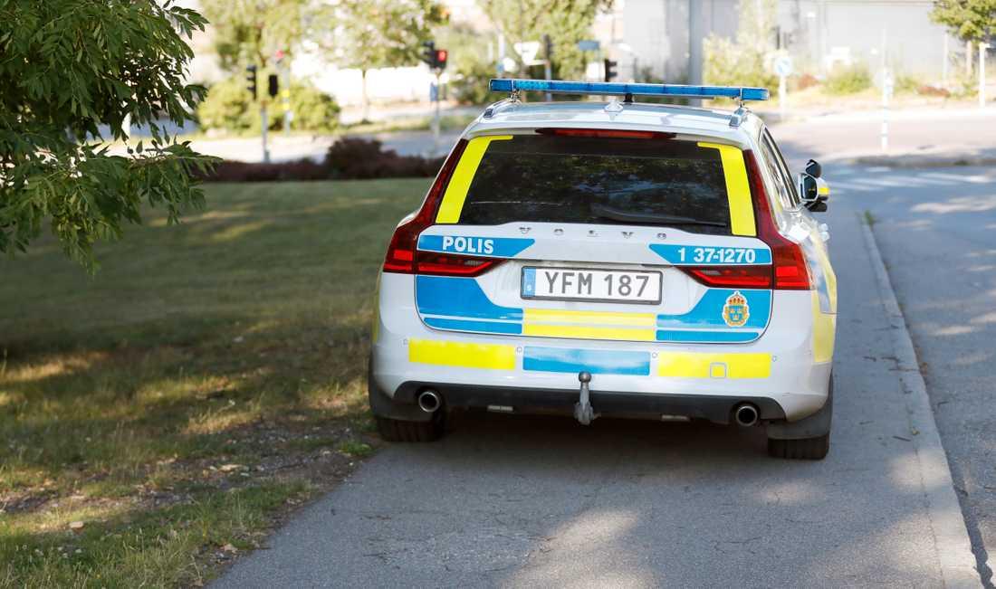 Polisen genomförde en teknisk undersökning under lördagskvällen.