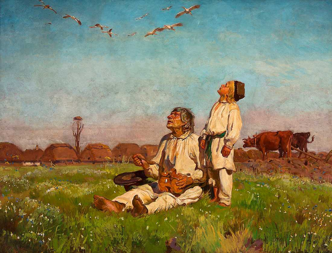 "Józef Chełmonski, ""Storkar"", 1900."