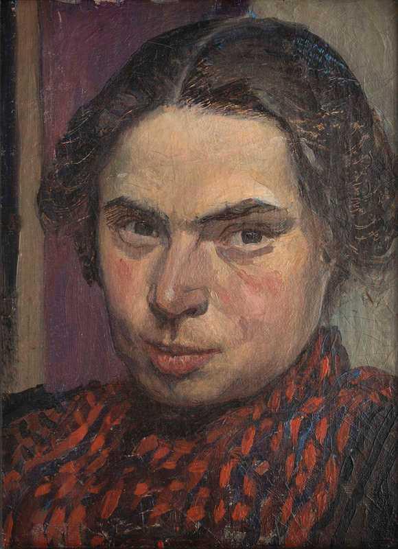 Ester Almqvist, Självporträtt, 1901, olja på duk, Jönköpings läns museum