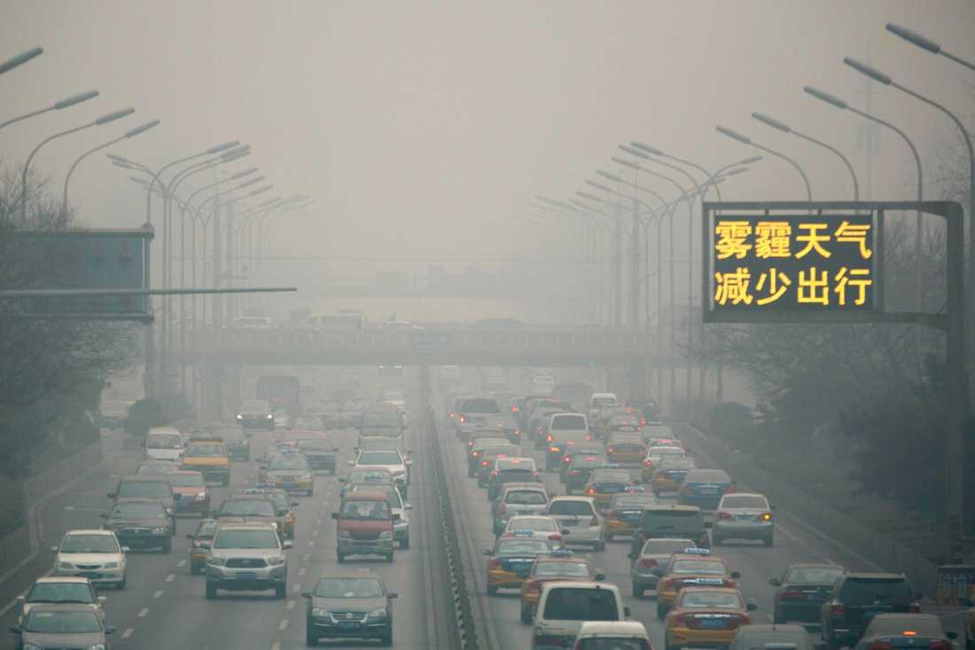 Bilväg i Kina, ett av de länder som står för de flesta av utsläppen, enligt rapporten.