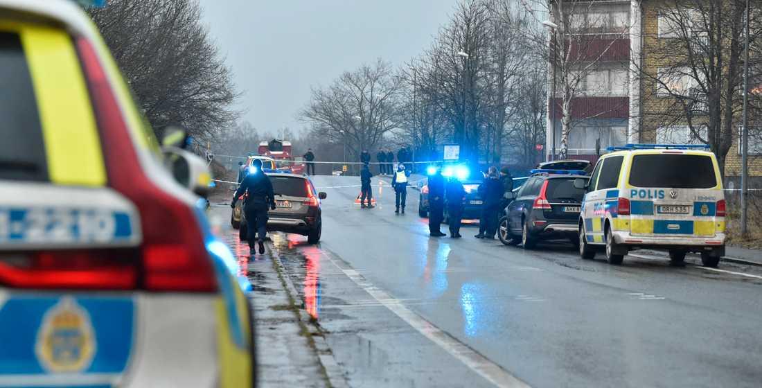 Skottlossning i Hässleholm.