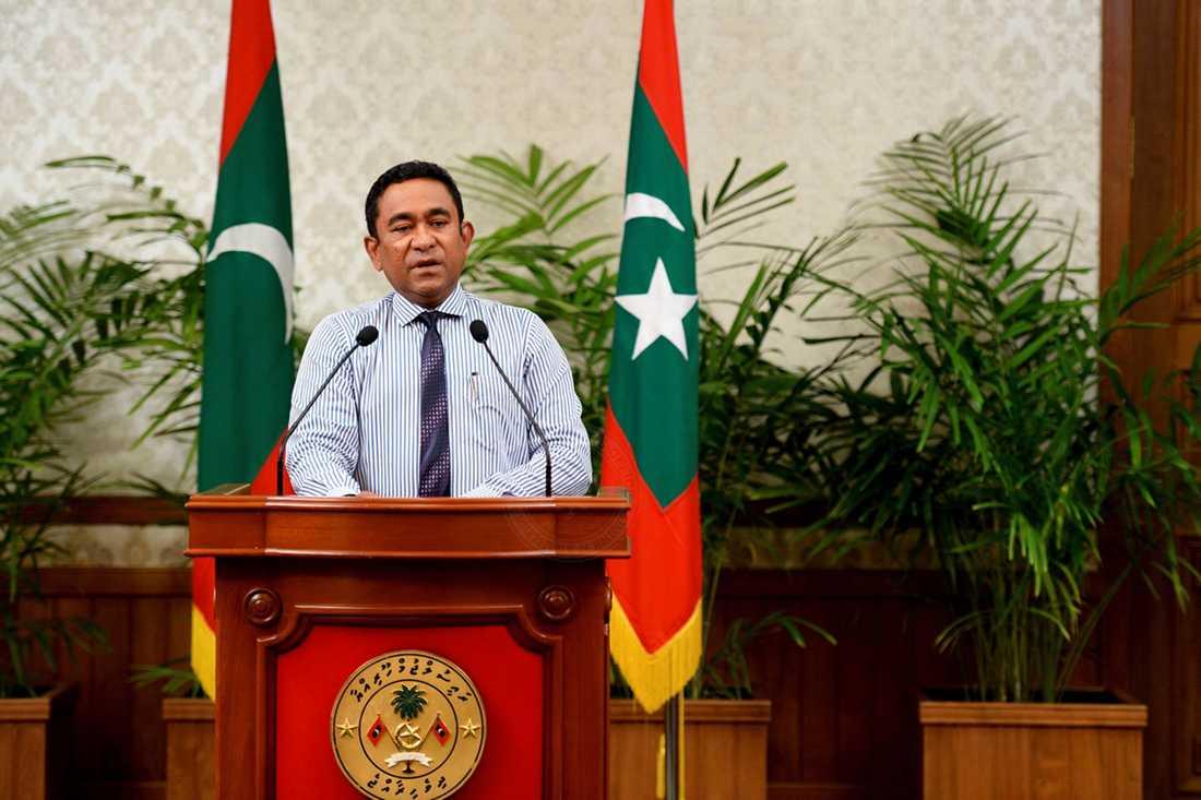Maldivernas president Abdulla Yameen.