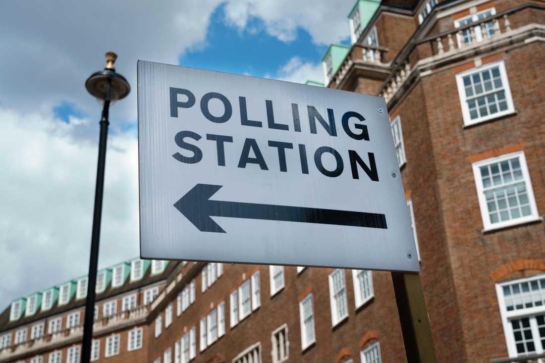 Vallokalen vid Great Smith Street, vallokalen som ligger närmast parlamentshusen.