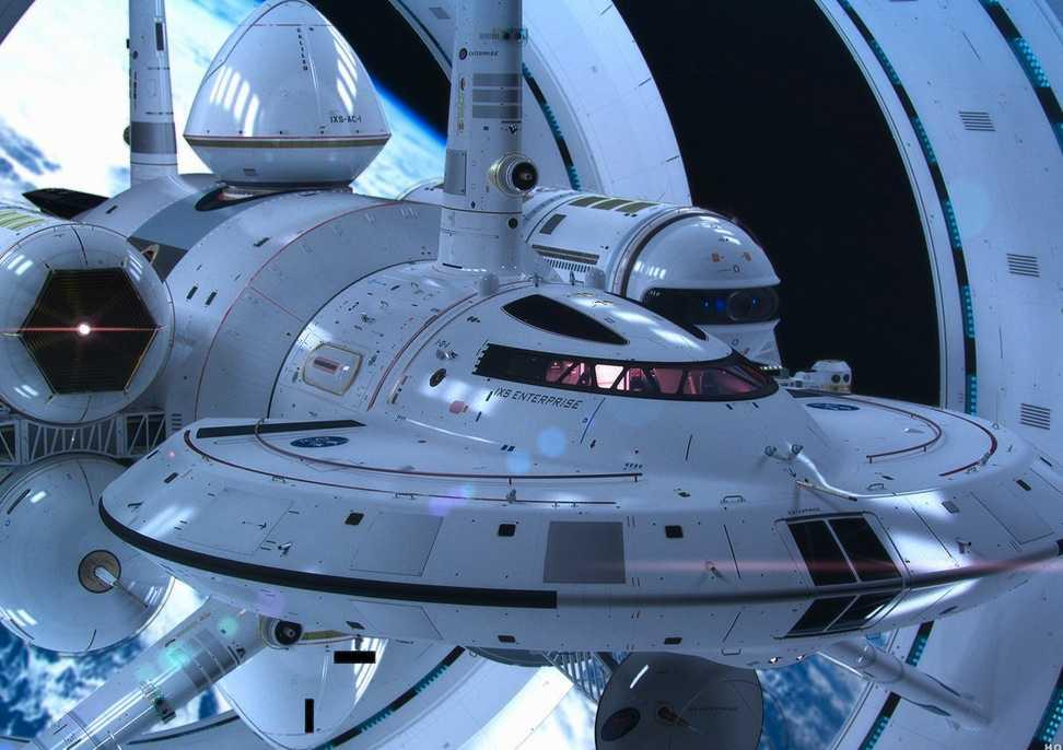 Prototyp av det skepp Nasa arbetar med att forska fram för resor i ljusets hastighet.