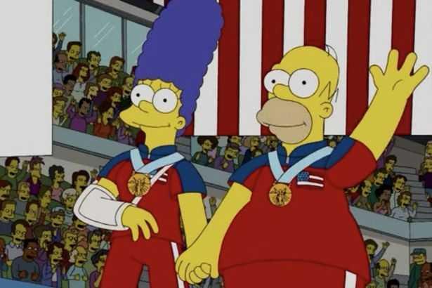Marge och Homer triumferade över Sverige.