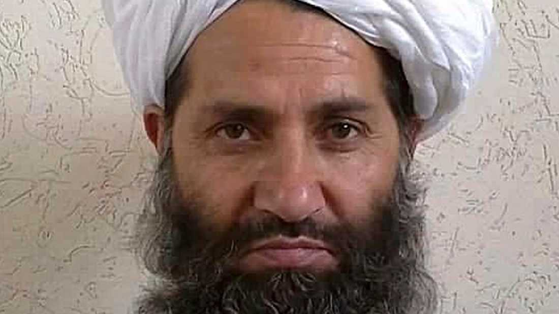 Talibanledaren Haibatullah Akhundzada. Arkivbild.