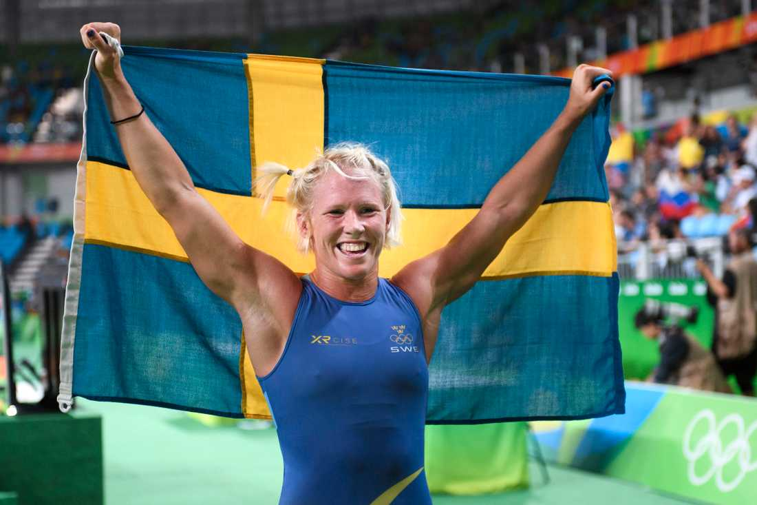 Jenny Fransson efter OS-bronset 2016.