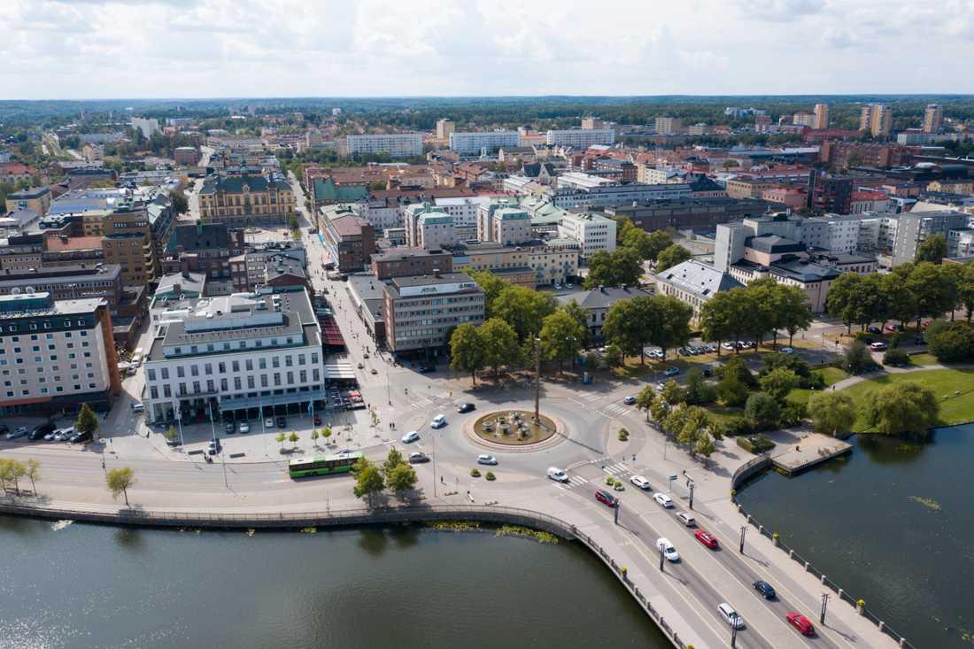 Mannen greps i Eskilstuna.