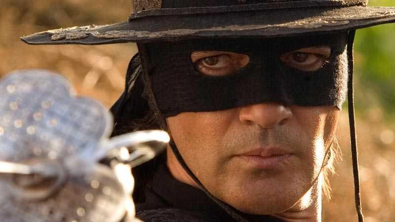 Skådespelaren Antonio Banderas som Zorro.