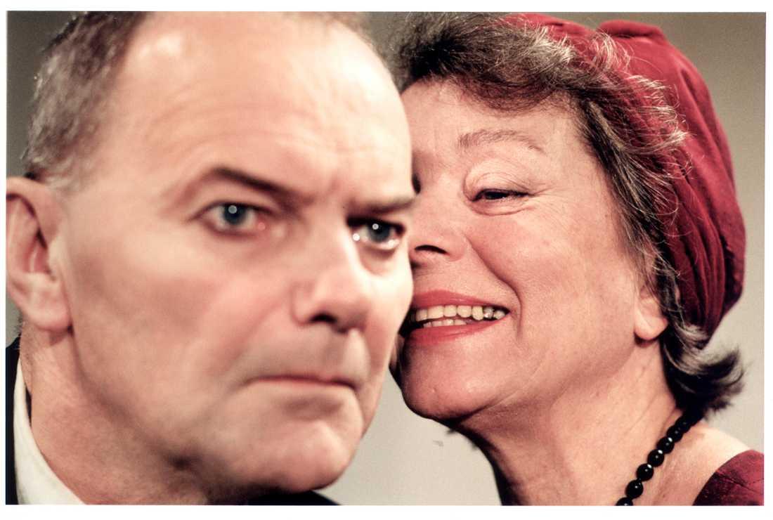Minetti i en uppsättning på teater Brunnsgatan fyra. Björn Granath, och Jane Friedmann.