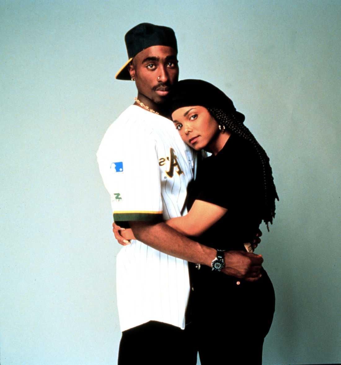 "Tupac Shakur och Janet Jackson i ""Poetic justice""."