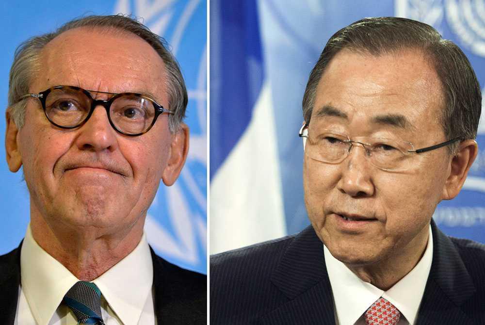 """Efter attacken mot skolan ilsknar flera FN-toppar till. Pierre Krähenbühl, chefen för FN:s UNRWA, ryter till på twitter över att FN-personal så väl som flyktingar dödats. Jan Eliasson säger att han är """"chockad och bestört"""", medan Ban Ki-moon säger att det inte finns något mer skamligt än att attackera sovande barn. Både Jan Eliasson och Ban Ki-moon kräver ett omedelbart eldupphör från både Israel och Hamas."""