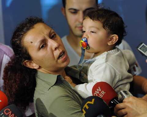 Nilufer Cetin och hennes ett år gamla son Kaan Turker var ombord på dödsfartyget.