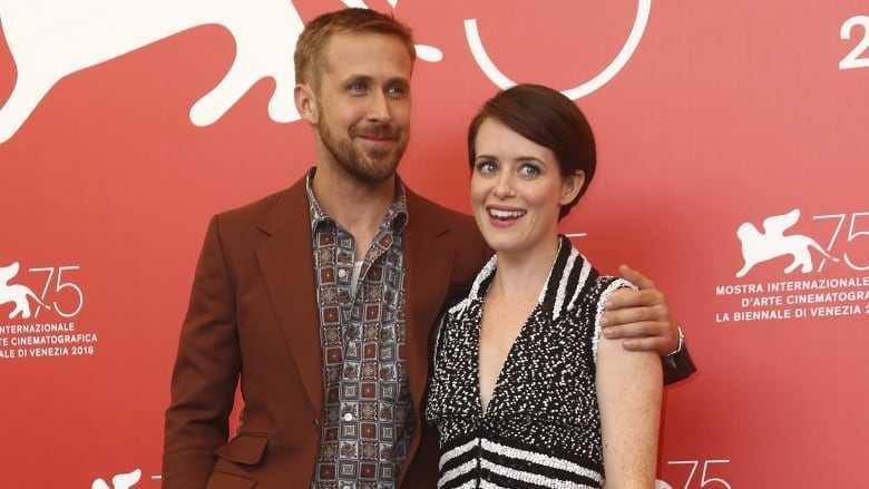 """Ryan Gosling och Claire Foy i Venedig. De spelar herr och fru Armstrong i """"First man""""."""