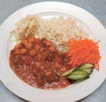 ...och så här lite äter de Högstadiet På högstadiet väger elevernas portioner i genomsnitt 281 gram.