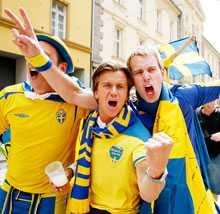 Segervissa Svenskarna är tokladdade inför matchen.