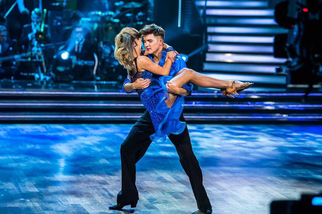 """Daniel Norberg i """"Let's dance""""."""