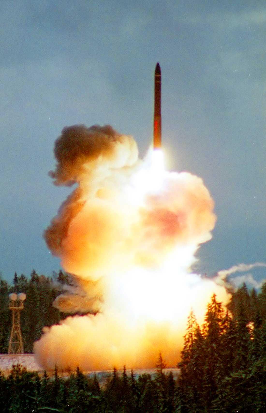 Rysk raketuppskjutning (bilden är tagen i ett annat sammanhang).
