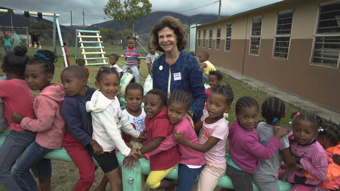 Drottning Silvia i Sydafrika.