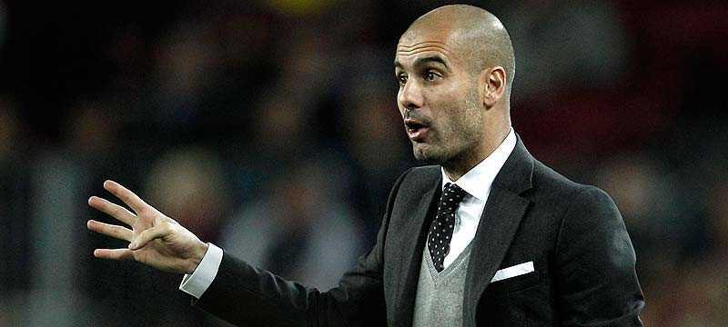EN AV FAVORITERNA Enligt de senaste oddsen från England är Pep Guardiola favorit att ersätta Carlo Ancelotti i Chelsea.