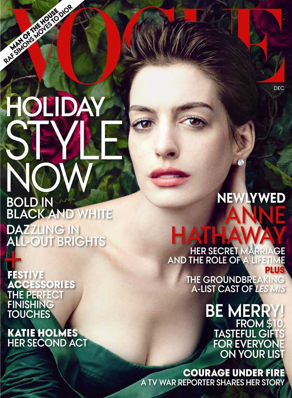 Anne pryder omslaget av nya Vogue.