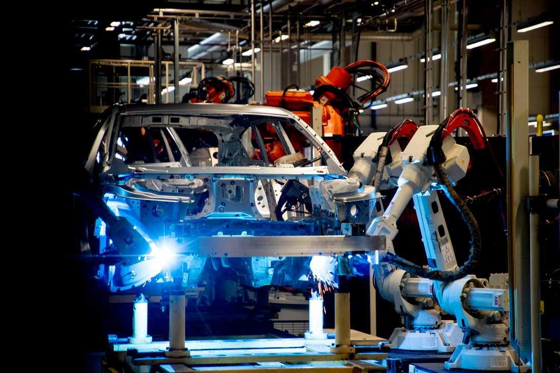 Volvo Cars återupptog produktionen i mitten av april efter ett uppehåll på grund av pandemin. Nu visar bilföretaget tydliga plussiffror för juli. Arkivbild.