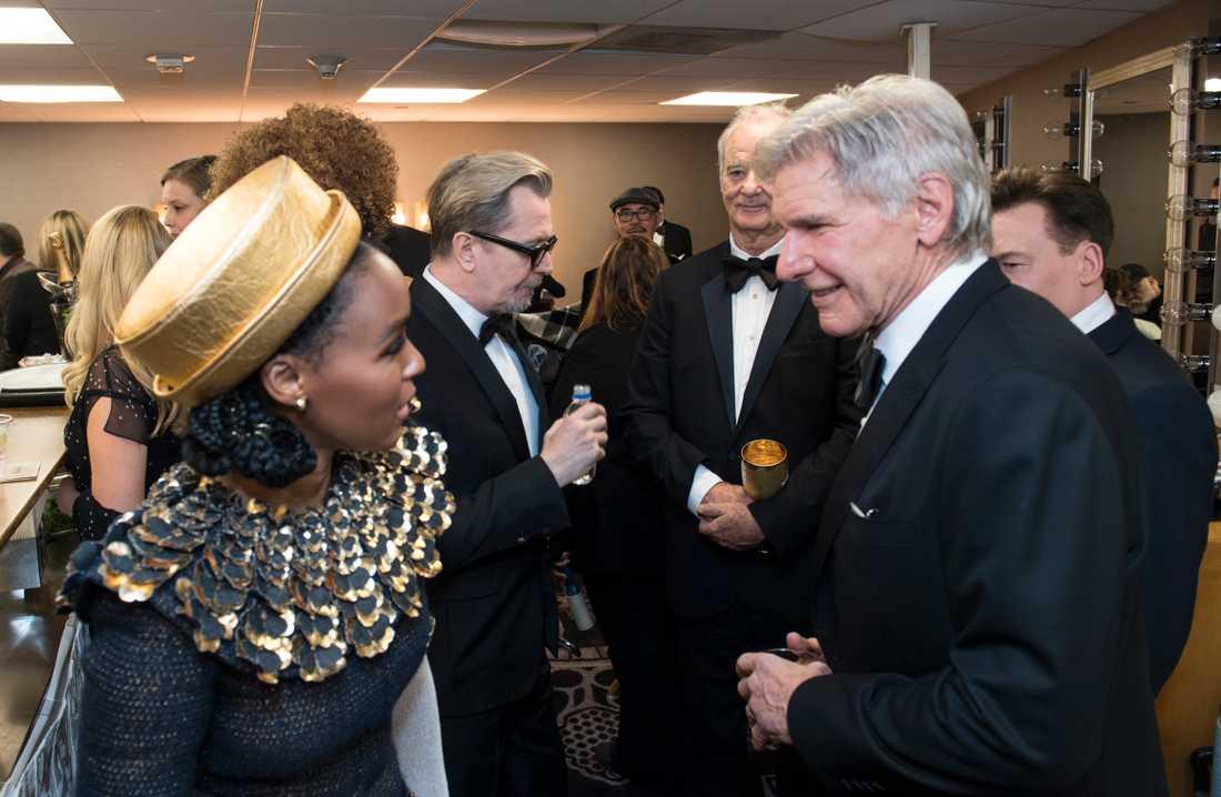 Janelle Monáe och Harrison Ford.