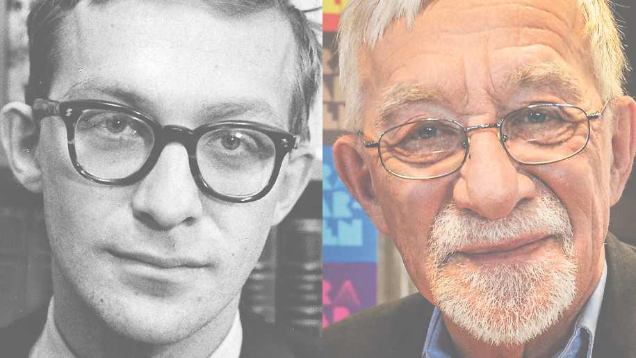 """Lars Gustafsson 1963 och 2012. """"Gustafsson hade en central position i svensk offentlighet i ett halvsekel eller mer"""", skriver Magnus Ringman om poeten, prosaisten och debattören som gick ur tiden 2016."""