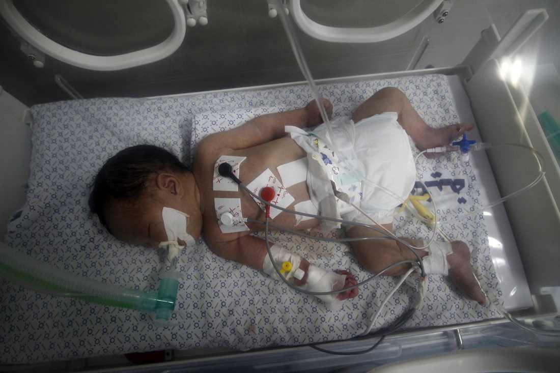 Flickans mamma dog i ett israeliskt anfall. Fem dagar senare dog flickan på sjukhus.
