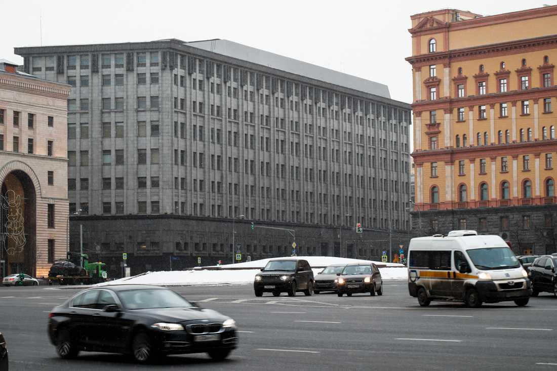 Ryska säkerhetstjänsten FSB:s huvudkontor i Moskva. Arkivbild.