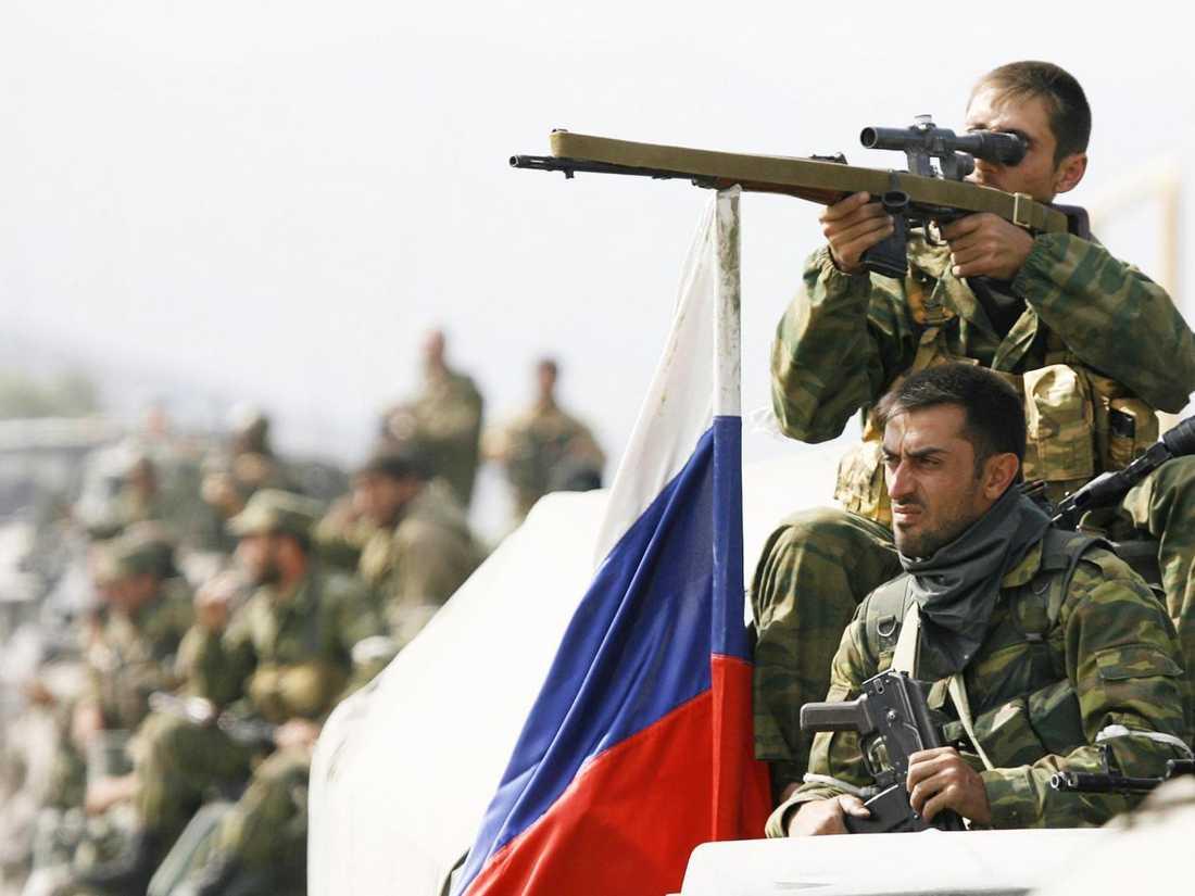Vostok-styrkan förbereder en attack mot en stad i Georgien år 2008