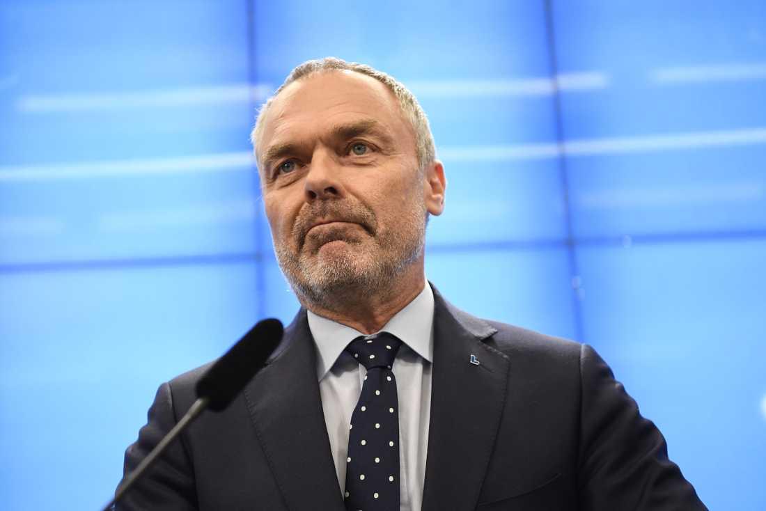 Liberalernas partiledare Jan Björklund (L) vid en pressträff i onsdags.