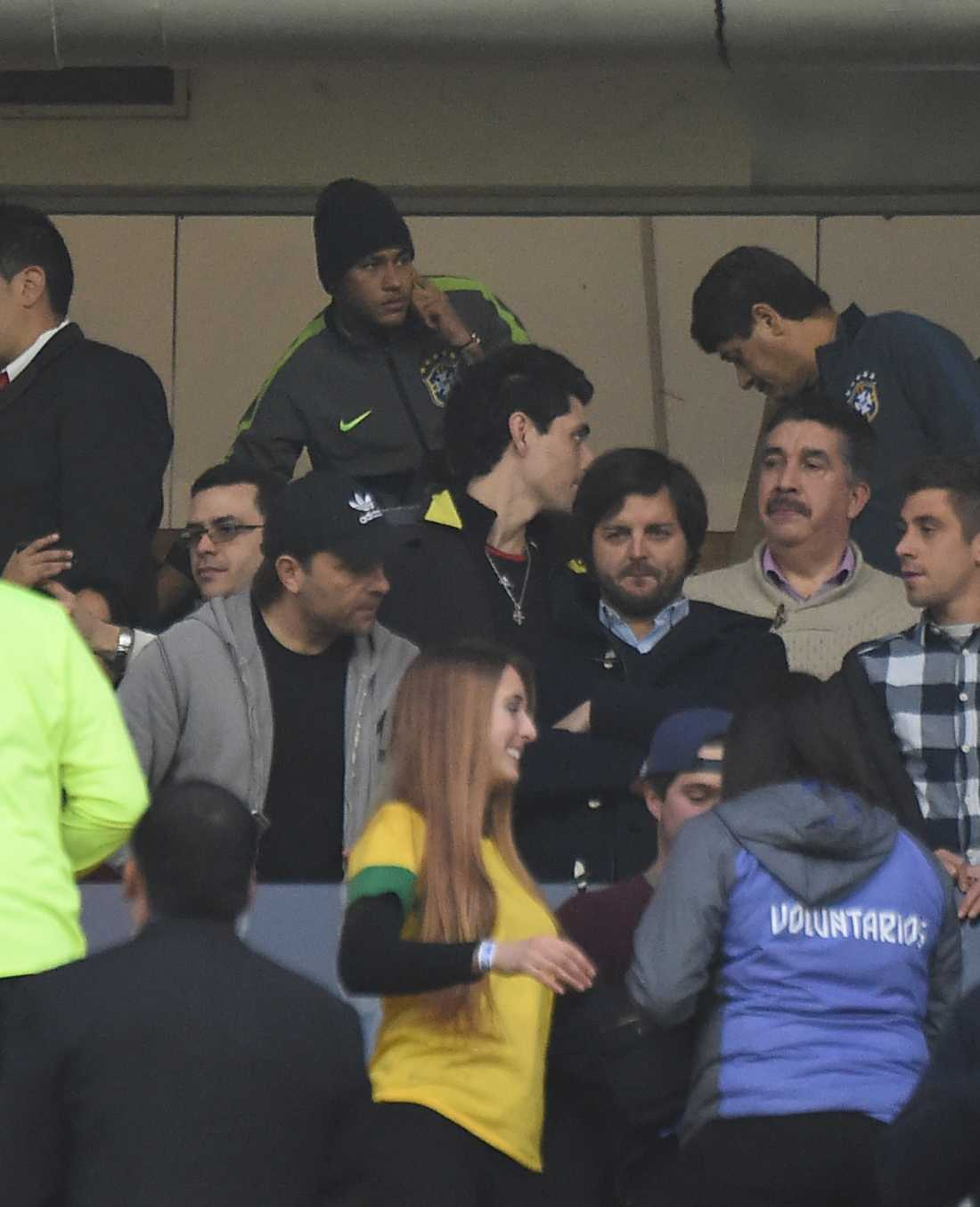 Neymar fick ta plats på läktaren.