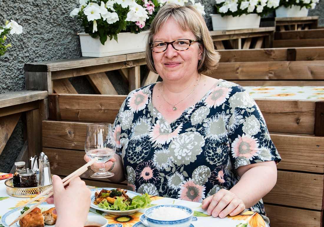 Maja Müller från Basel vill ha mer salt i värmeböljan.