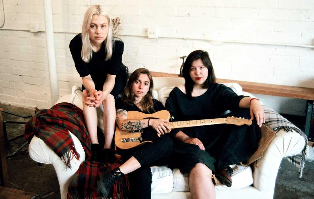 Phoebe Bridgers, Julien Baker och Lucy Dacus är Boygenius. Tre låtar  finns ute,  ep kommer i november.