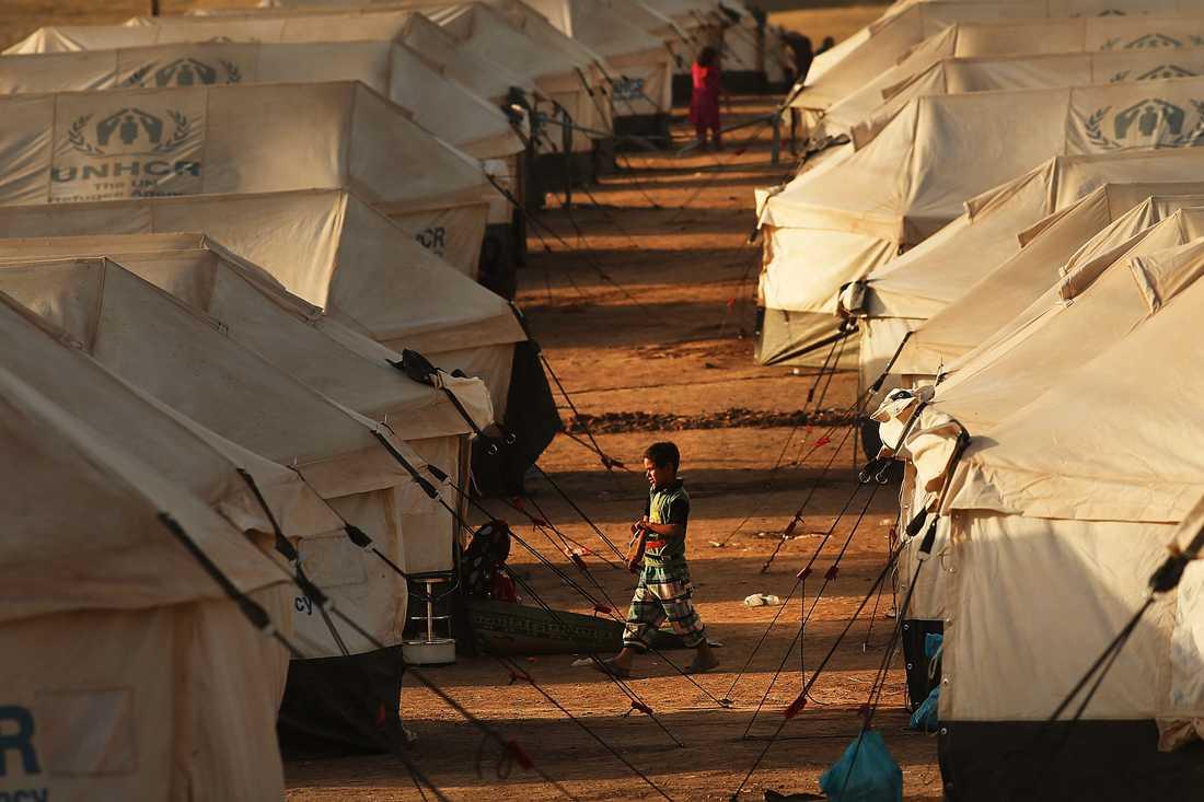Flyktingläger i Mosul, Irak.